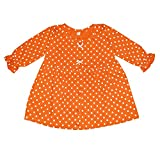 KIDEEZGUILD...… Polka Dot Printed New Born Baby Kids Girls Infant Cotton Front Open