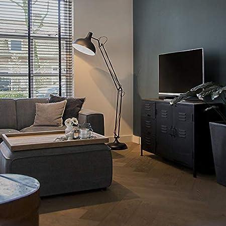 Qazqa Lampadaire | Lampe sur pied Rétro - Hobby Fl Lampe Noir - E27 - Convient pour LED - 1 x 60 Watt