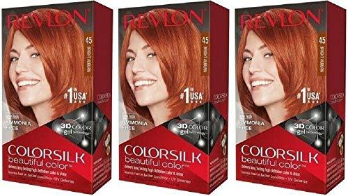 Revlon Colorsilk Beautiful Color Hair Color, Bright Auburn (Pack of 3)