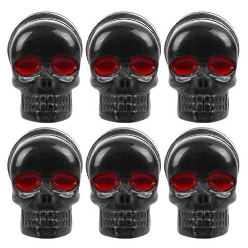 BESPORTBLE - 6 tornillos de calavera, marco de matrícula para moto