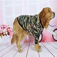 新しいカモフラージュ犬のジャケット全体的に大きな犬の服のために犬のスウェットシャツペットの服コート大きな犬の服フード付き/襟なし