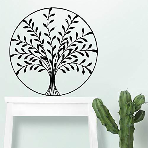 Pflanzenwandaufkleber PVC für Wohnzimmer Firma Schule Büro Dekoration Wandbild Gold L 43cm X 43cm