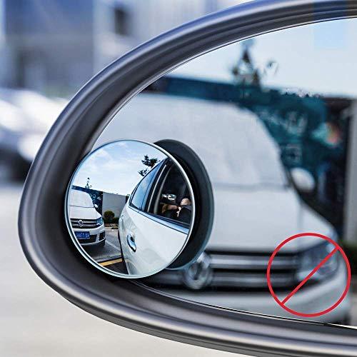 Baseus Full-View 2X Toter-Winkel-Spiegel Weitwinkel Spiegel für weites Sichtfeld Blind-Spot Mirror Schwarz