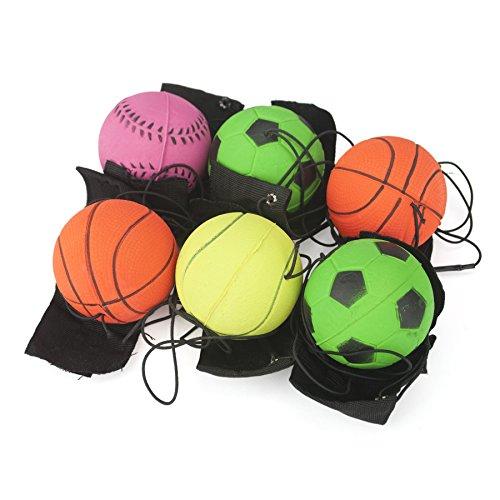 GOGO Packung mit 6gemischten Springbällen, Schnur und Handgelenkband für Handgelenkübungen. Einheitsgröße 6Pcs