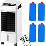 MYLEK Portable Air Cooler Fan for Home with Remote Control & LCD Display - Timer Function, 3 Speeds, 3 Wind Settings & Oscillation (Viento Medium 4L)
