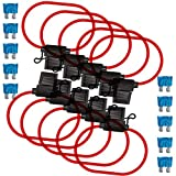 Inline Fuse Holders & Fuses Kit - Muhize 16 Gauge Automotive ATC/ATO Standard Fuse Holder ...