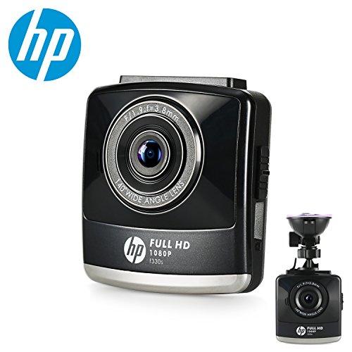 HP Caméra de voiture caméra embarquée DASHCAM Enregistreurs de conduite LCD couleur 2,4 ' Full HD de 1080p avec caméscope numérique à caisson noir (enregistrement en boucle, capteur-G, détecteur de mouvement, excellent éclairage à faible luminosité,