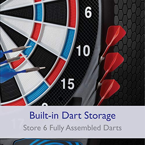 Viper 787 Electronic Dartboard, Ultra Thin Spider For Increased Scoring Area, Free Floating Segments Don't Interfere With The Rest Of The Board, Locking Segment Holes For Fewer Bounceouts, Automatic Scoring For Ease Of Use, Adjustable Voice Scoring, 43 Games And 241 Options