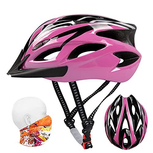 Bike Helmet Adult, Mountain Cycle Helmets Ladies, 56-62CM Large Adjustable Lightweight 18 Vents Bicycle Cycling for Teenagers Women Men Kids 8-12 Years Old Sport Headwear Skateboard MTB Road Safty