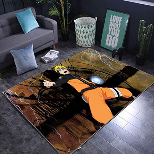 LCYZ Teppich Cartoon Anime,Naruto Teppich,Naruto Uzumaki,rutschfeste Oberfläche Im Europäischen Und Amerikanischen Stil Rechteckige Kinderzimmer Wohnzimmer Schlafzimmer Teppich,100×160cm(39.3×62.9in)