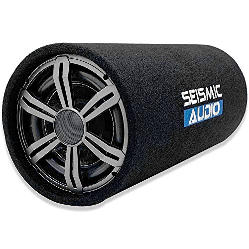 Seismic Audio - SA-BPT10 - High Powered 10 Inch Passive Subwoofer Tube Speaker - 500 Watt Car Audio Sub Speaker Enclosure 4 Ohm with Rear Vent
