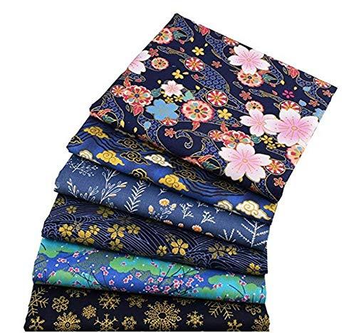Baumwollstoff Patchwork Stoffe 6 stück stoff aus gedruckt bo&le patchwork DIY Gewebe Quadrate Baumwolltuch Stoffpaket zum Nähen
