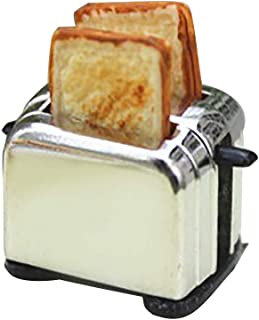 Vibola Dollhouse Accessories,1/12 Scale Miniature Toaster Bread Machine with Toast,Realistic Kitchen Cookware for Kitchen ...