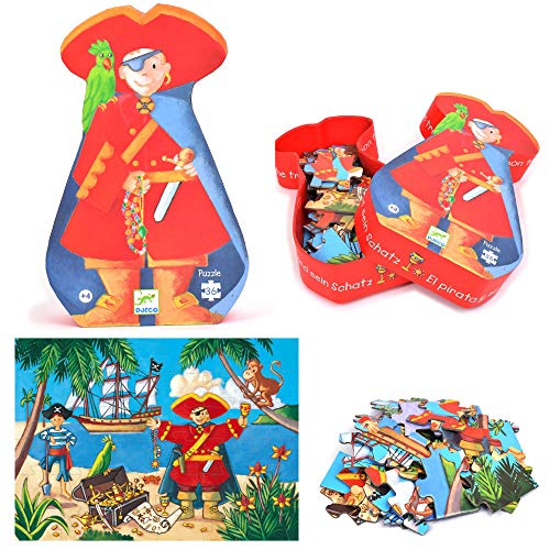 Puzzle con marco, 32 piezas (7220) 7220   Puzzle Silueta el Pirata, Juguete Puzzle A Partir de 4 años