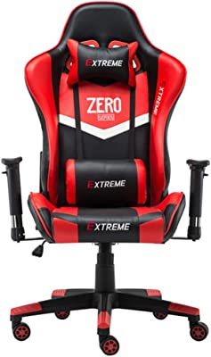 Ergonomic Gaming Chair Racing Style Adjustable Height High-Back PC Computer Chair with Headrest and