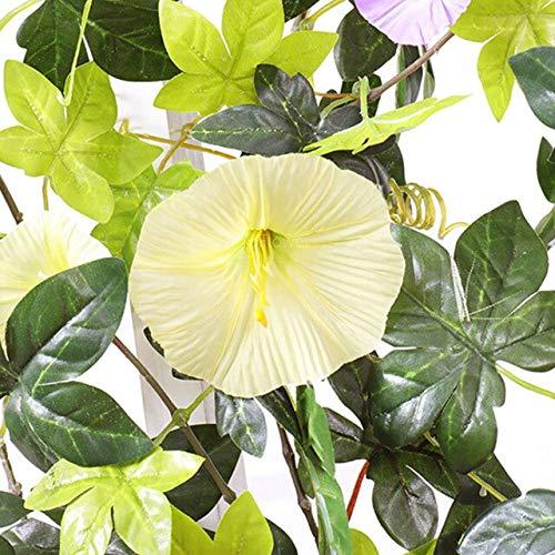 GGDMLJH Kunstmatige nep bloem Simulatie Ochtend Glorie Rotan Decoratieve Nep Bloem Indoor Airconditioning Pijp Blokkeren Verwarming Kunststof Bloem Plant Wijnstok Geel