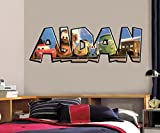 Cars Movie Personalized Name Decal Wall Sticker Home Art Disney McQueen J244, Huge