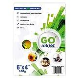 GO Inkjet - 100 hojas de papel fotográfico + 5 hojas adicionales (15 x 10 cm, 180...