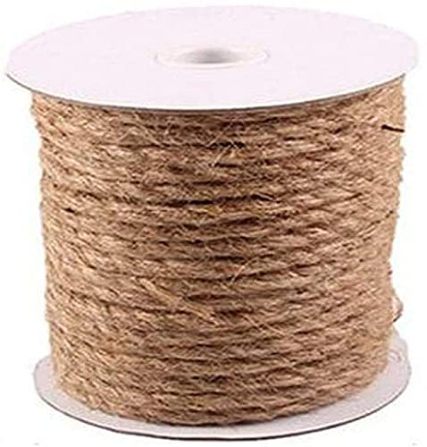 showyow Jute Rope, Natural Twisted Hemp Rope High Strength Solid Braid Jute Twine, for Tie/Pull/Swing/Climb and Knot,10m_14mm