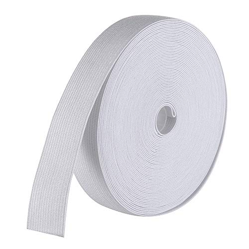 uproll Elastic Bands Spool for Sewing(White, 1 Inch by 12 Yard)