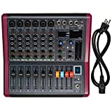 6-Channel Professional Mono Audio Mixer, Phenyx Pro Sound Board w/ 3-Band EQ, Build-in 99 DSP Effects, BT Function, Recording to USB Drive, Ideal For Studio, Stage, Karaoke (PTX-20)