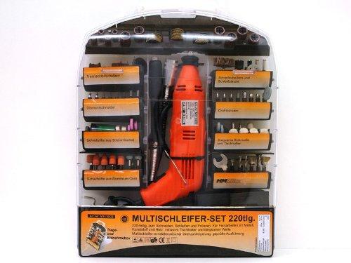 Multischleifer Set 220-tlg. - Multifunktionswerkzeug Multitool - Müllner - MS130CE