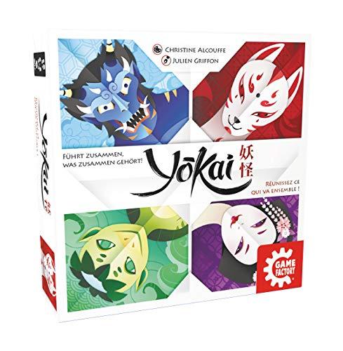 Game Factory 646264 Yokai, wunderschönes Legespiel für Kinder und Erwachsene, für 2 bis 4 Spieler