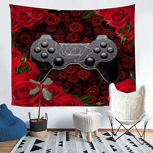 richhome Tapiz para el día de San Valentín con diseño de rosas para colgar en la pared, para dormitorio, universidad, dormitorio, sala de estar, decoración de pared, extragrande, 180 x 235 cm