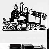 Tianpengyuanshuai Train à Vapeur Autocollant Mural Amovible Sticker Mural Autocollant Décoration Salon Enfant Garçon Chambre...