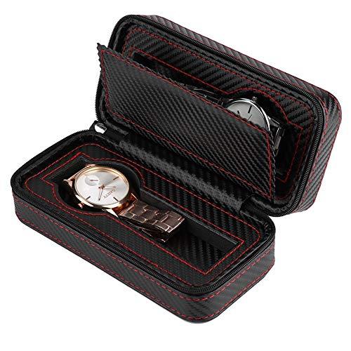 MaestroRelojero Case Porta 2 Uhren Kohlefaser PU