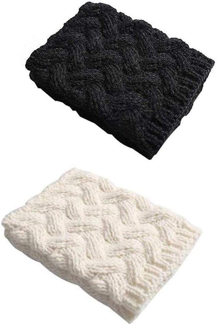 Xugq66 4 Pairs Women Winter Leg Warmer Crochet Knit Boot Cuffs Socks