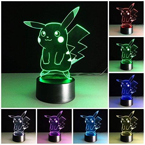 3D Illusion LED Nachtlicht, 7 Farben Allmählich wechselnde Touch Switch USB Tischlampe für Weihnachtsgeschenke oder Wohnaccessoires (3D Tier)