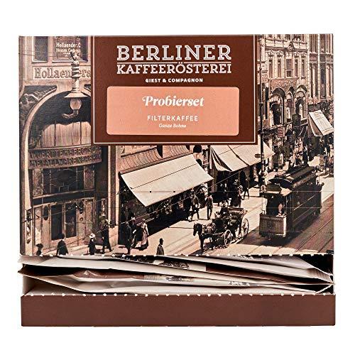 Probierset Filterkaffee | 12 Sorten á 50g | Ganze Bohne | Geschenk für Kaffeeliebhaber | Berliner Kaffeerösterei