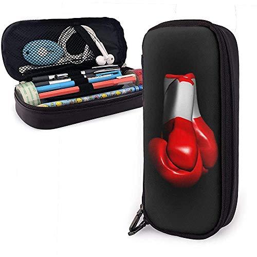 PU-Ledermäppchen mit Reißverschluss, Boxhandschuhen Aufbewahrungsmarkierungsetui mit großer Kapazität Stifthalter-0F6-5V