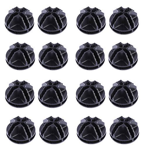 OUNONA 20 Stück Drahtwürfel-Verbindungsstücke aus Kunststoff für Würfelregale und Schränke, modulare Organizer, Schrankschließe, Schnallenclip (schwarz)