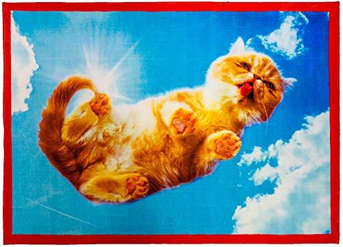 Seletti 'Tapis en Polyester/Coton Toiletpaper cm.200 x 280 – Ciel