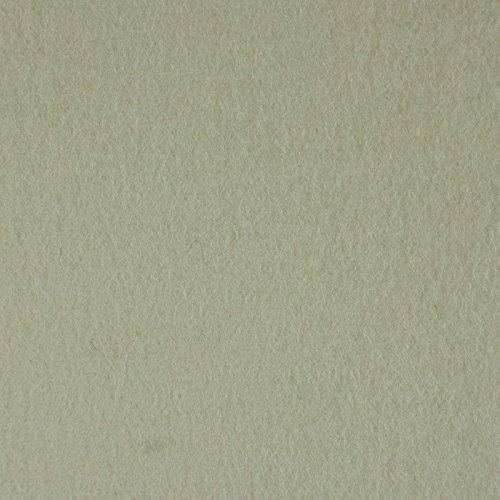 The Felt Store Europe Meterware Wollfilz 285, weiß, spezifisches Gewicht 0,20 kg/cdm, Mindestnutzbreite 1.700 mm, 10 mm dick, 1 Laufmeter