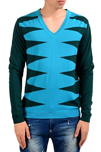 Versace Collection Men's 100% Wool V-Neck Sweater US XL IT 54;