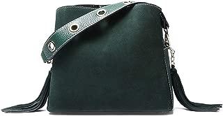 Portable Simple Scrub Multi-Function Compact Bill Shoulder Slung Leather Handbag (Color : Green)