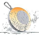Wireless Bluetooth Speakers Portable Waterproof - 2000mAh Shower Speaker with Night Light HiFi Sound, Mini Color Changing Bluetooh Outdoor Pool Speakers Support TF Card (Upgrade)