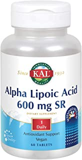 KAL Alpha Lipoic Acid SR Tablets, 600 mg, 60 Count