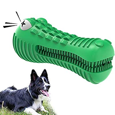 VRTOP Dog Chew Toys Indestructible Tough Squeaky Toothbrush Strong Durable Large Interactive Dog Toy for Aggressive Chewers Big Medium Breed Gifts for 13-36 KG Dogs