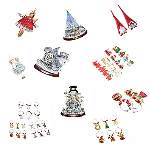 LIBINA Luces de Navidad, Casas de Navidad Casas de Almohadas, Todo Tipo de Productos de Navidad, Tarjeta de felicitación, Caja, Juguetes de Navidad, 3 Piezas al Azar, Decoraciones Navid