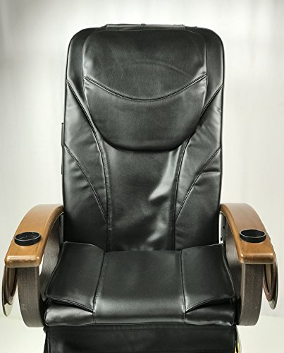 Pedicure Chair Massage Bottom-Air Seat Cover Cushion Salon Spa (Black)