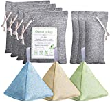 UNIROI 10 Pack Bamboo Charcoal Bag, Charcoal Absorbent bag Activated Bamboo Charcoal Bag for Home Shoes Car Pet Closet