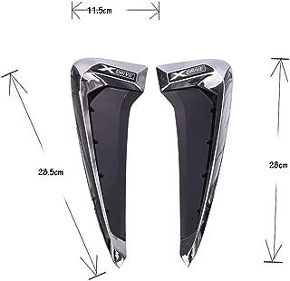 Autobro ABS Xdrive Carbon Fiber Shark Gills Side Decoration Fender Vent Trim For BMW X5 F15 X5M F85 14-17-Silver White