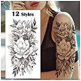 Cerlaza Temporary Tattoos for Women, Fake...