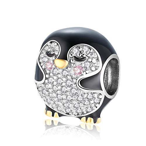 ARTCHARM Family,Rainbow,Penguin Charms 925 Sterling Silver Beads Fit Women's Bracelets & Necklaces, Happy Birthday Charms for Women Girls Boy Men (Penguin Charm)