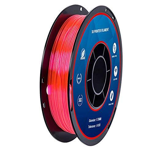 TPU Filament 1.75mm, 3D Printer Filament, Soft and Elastic, 0.5kg Spool-Rose red