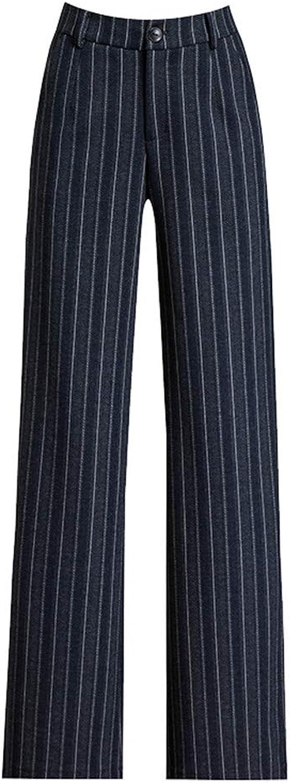 High Waist Winter Pants Wide Leg Pants Loose Striped Pants Plus Size Women Pants Winter Korean Pencil Trousers